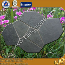 Black Flagstone Interlocking Outdoor Slate Tiles