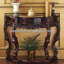 Stocking Hand carved side/end table,solid wood curved antique console table