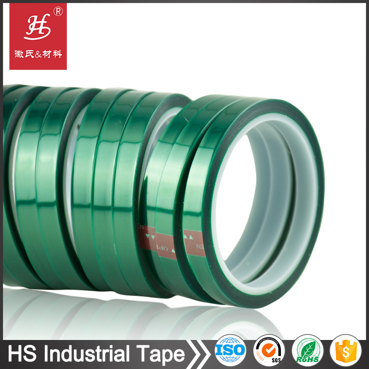 HS-2585 12mm X 66M green self adhesive polyester film tape