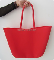 Women colorful silicone beach bag manufacturers fashion waterproof custom tote bag no minimum