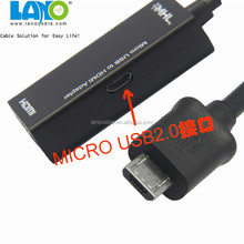 Micro USB to HDMI MHL Adapter Cable for Smartphone;usb to stereo mini plug cable