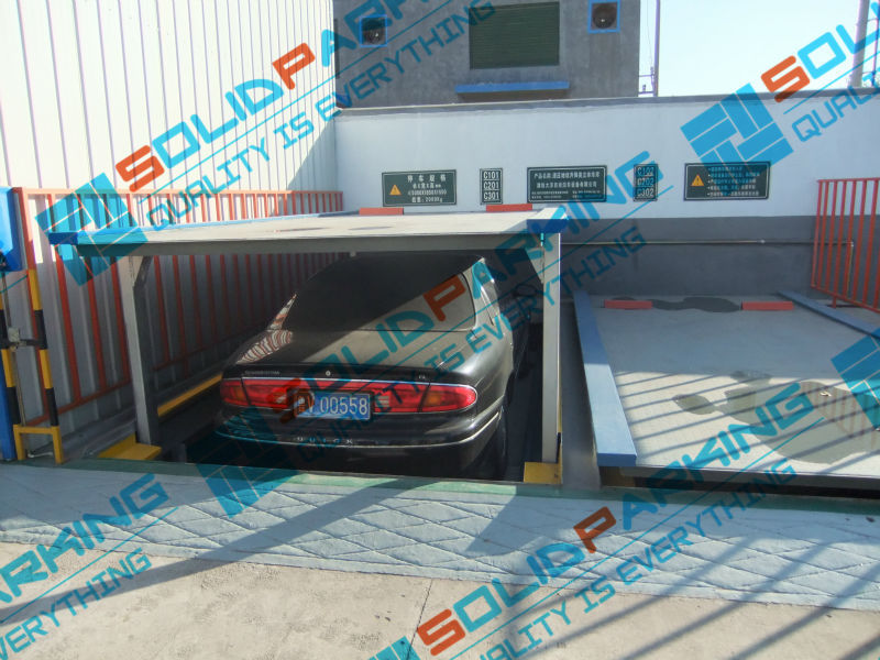 CCQS CE certified 2 floors motor driven low cost lifting and silding puzzle parking system