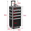 All in1 Hairdressing Makeup Beauty Nail Case Cosmetic Trolley in Various Colours