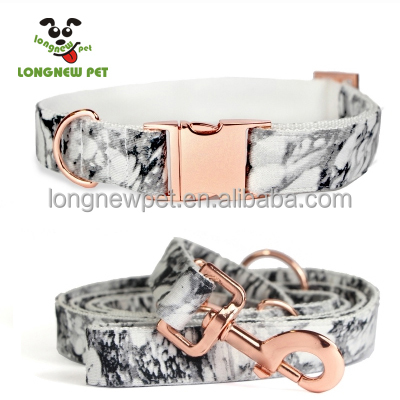 Customized Dog Collar And Leash With Rose Gold D Ring High Quantity Collar Leash For Any Dog