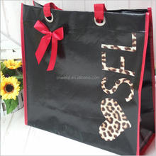 Alibaba Chinese supplier folding pp laminated non woven reusable promotional shopping tote bag