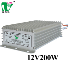 12v 200w IP67 led light source display screen led power supply