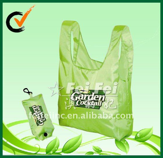 190T Polyester Foldable Bag for shopping