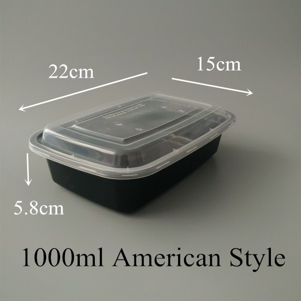 New PP Grade Take Away Disposable Oven Safe 1000ml Plastic Food Container
