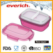 Colorful plastickids food warmer lunch box