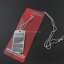 High quality long duration time dog tag embossing with professional technical Support