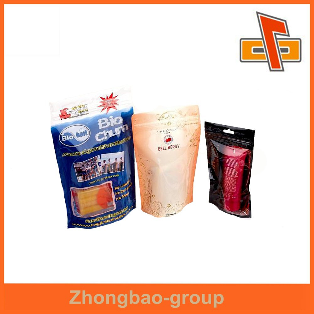 Chinese supplier hihg quality zipper top food bag packaging design for snack
