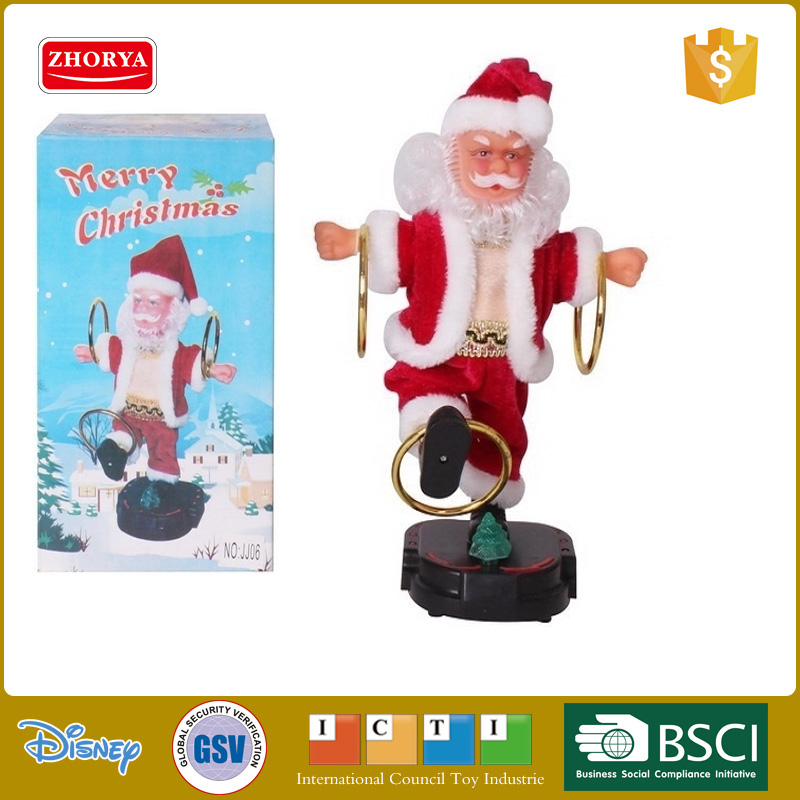 christmas ornament musical santa claus christmas toy funny christmas electric santa claus toys