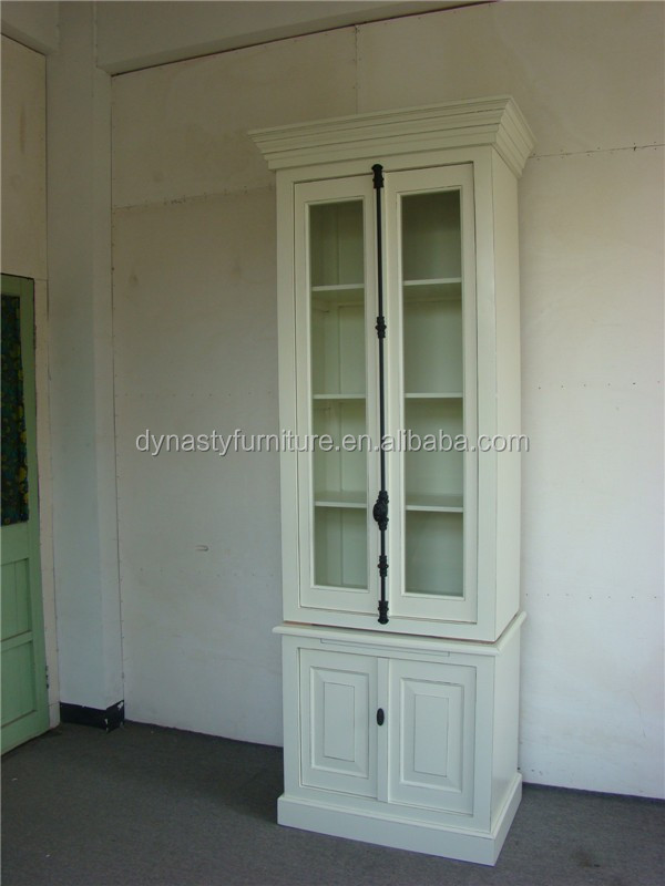 office furniture wooden and glass display cabinet