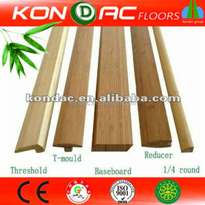 Horizontal Carbonized Bamboo Garden Accessories Solid Bamboo Flooring