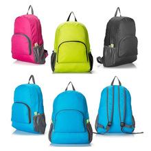 Hot sale Lightweight waterproof nylon travel foldable backpack,folding backpack sports bag for promotional