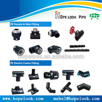 HDPE pipe/ reduced tee/ elbow/ socket /plastic fittings