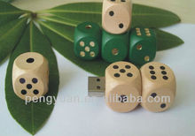 Business gifts Wooden dice pen drive ,Gamble USB flash drive , USB dice sticks (PY-U-499)