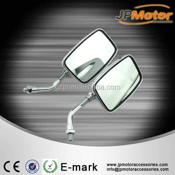 Hot sale motorcycle accessory chrome mirrors motorbike rear view mirror side mirror