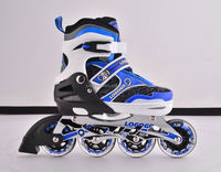 2015 the most popular Flashing wheel cougar inline skate with PP/PA material top cap