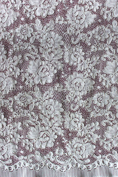 2014 hot selling corded jacquard lace fabric on sale