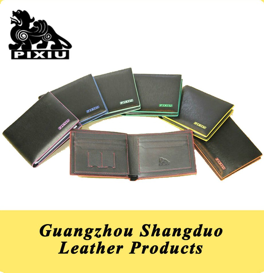 2016 New Product Quality Colorful Leather Man Short Wallet with Good Service