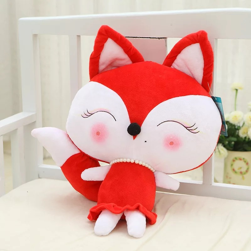 No minimum wholesale Plush Fox toy for kids Fashion Oem Custom Logo Stuffed <strong>Animal</strong> in clothes Soft Plush Fox Toy