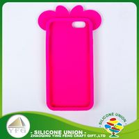 Newest pleasant logo silicone mobile phone case