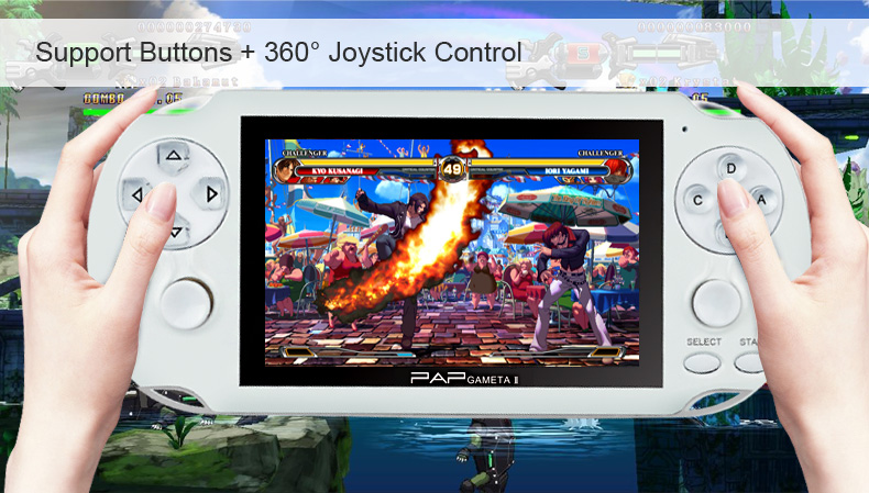 64 bit wireless controller of PAP-GAMETA II handheld video game console With PM4/movies/MP3/cameras and DVDS