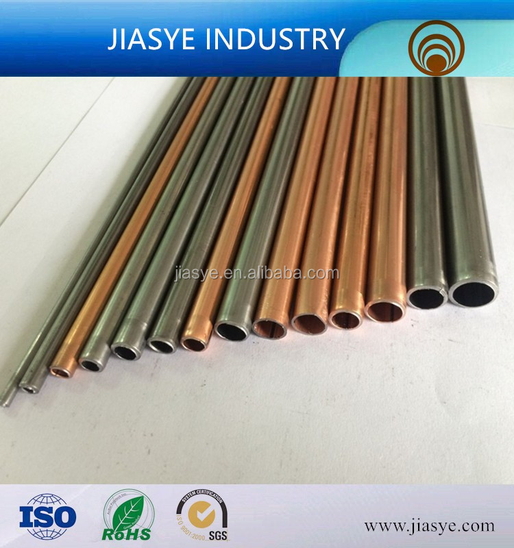 ASTM A254 9.52x0.70mm mild steel pipe copper coated on both sides welded steel pipe for electrical component