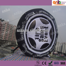 Inflatable advertising tire model for display