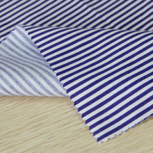 Shaoxing textile classical Stripe pattern pooplin 100% cotton printed poplin fabric