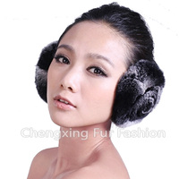 CX-EM-03R Fashion Ladies Genuine Rex Rabbit Fur Custom Fur Earmuffs
