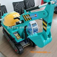 Kids excavator toy car to sit in