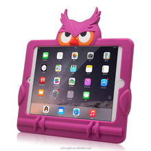 2015 Owl pattern shape style silicone case for iPad mini