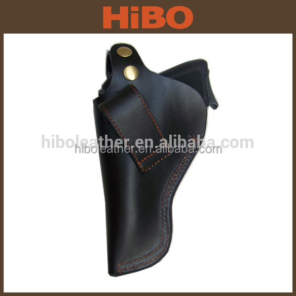 Black and Brown Universal Genuine Leather Gun Holster