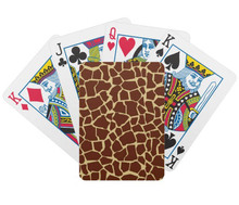 animal print playing cards