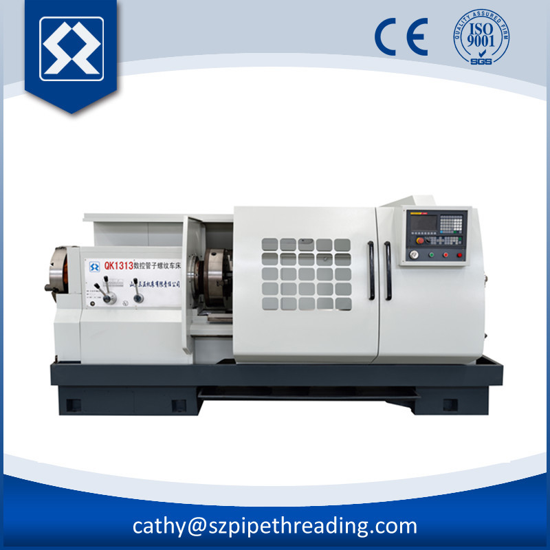 QK1313 Widely Used CNC Machine Cheap Pipe Threading Lathe