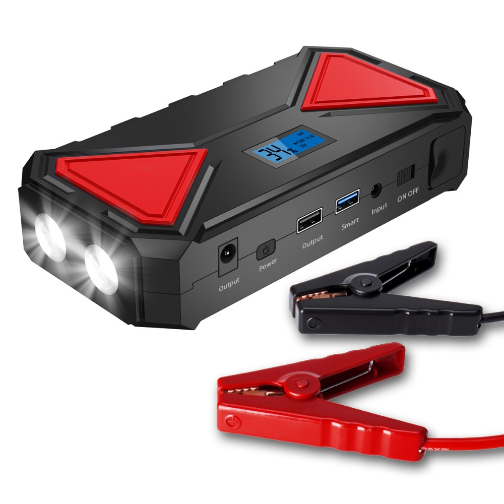 12000mah cenyee multi-function auto portable jump starter 400AMP with quick charge power bank