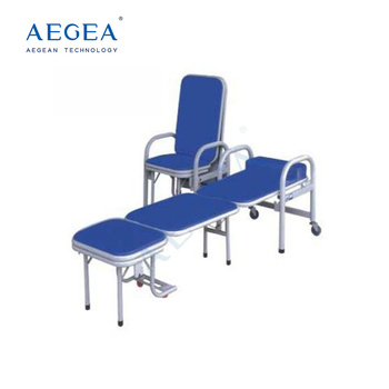 AG-AC002 4 wheels totally portable used medical accompany hospital folding chair