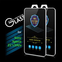 2016 New Arrival 9H 0.3mm 2.5D Premium Tempered Glass Screen Protector Film for Sony Xperia Z2 L50t L50u