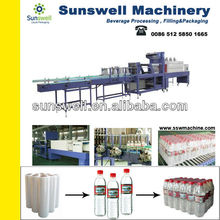 Wrapping machine/ shrinkable film / for cup/ bottling plant