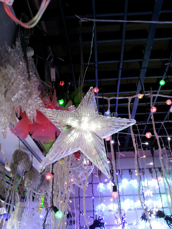 battery operated 16cm christmas tree top star double color star light outdoor star lights