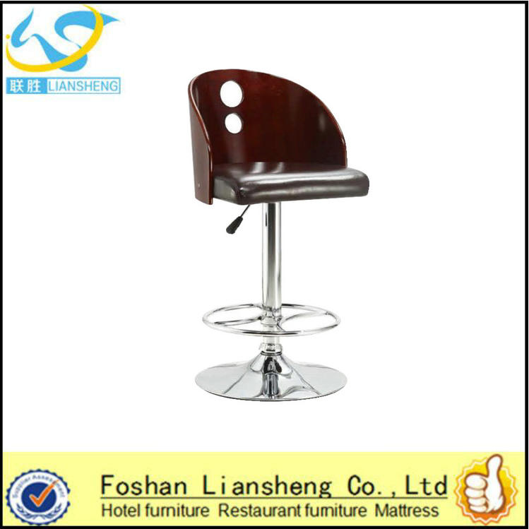 buy modern hot selling pu leather high bar chair with armres