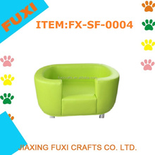 Apple green Pet soft PU leather dog bed pet bed