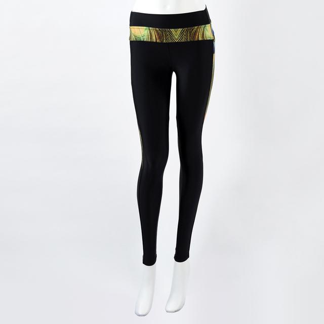 Custom Peacock Printing Exercise Tights Gym Fitness Leggings For Women