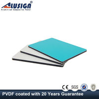 ALUSIGN exterior aluminum composite panel wall decoration ldpe acp sheet