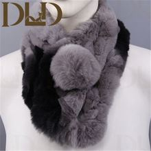 Factory direct wholesale price rex fur neck warmer