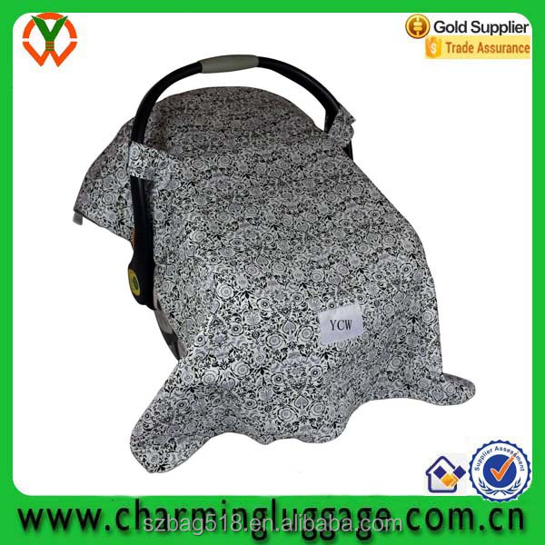 china suppliler manufactory price cotton dot minky baby car seat cover canopy