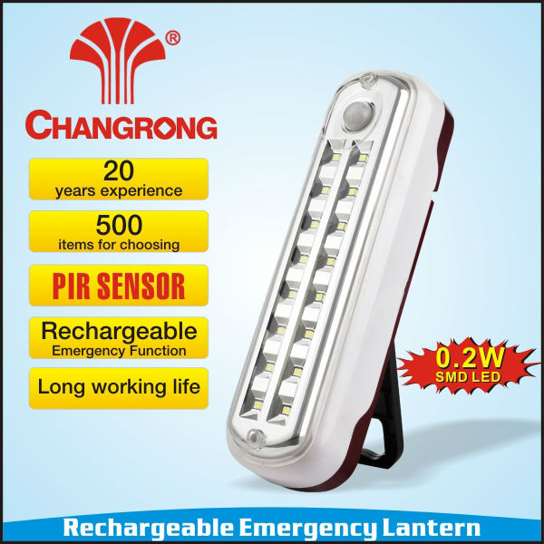 rechargeable emergency led PIR light sensor function