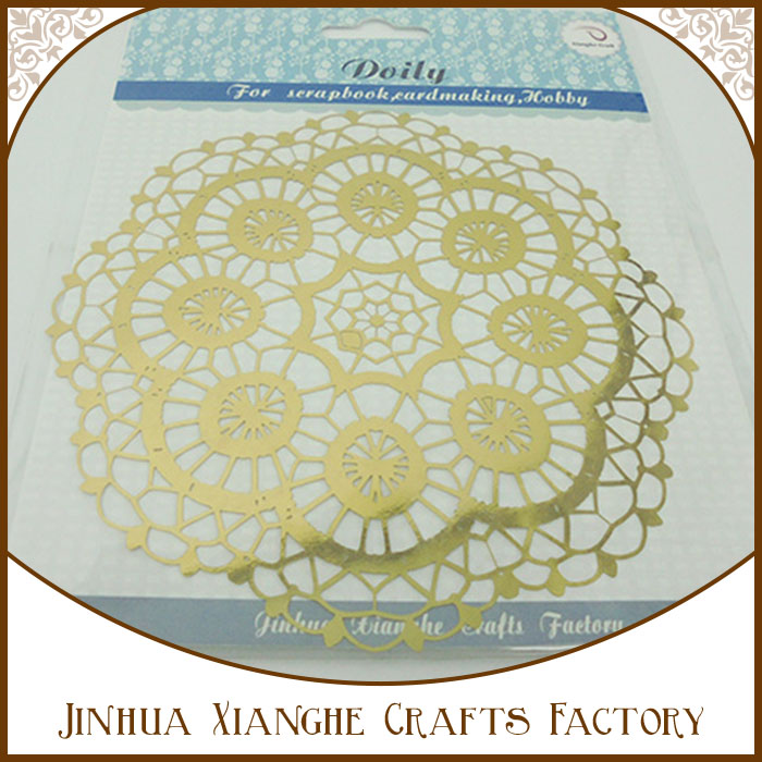 Custom Design Foil Paper Doily Round Paper Flower Doily for Table Decorations